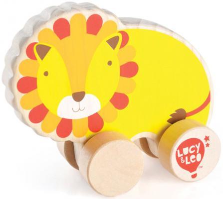 Каталка Lucy&Leo Лев желтый от 3 лет дерево 4897059891194