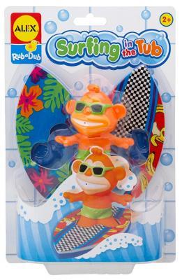 Резиновая игрушка для ванны ALEX Серфинг 884ST пластмассовая игрушка для ванны alex чашки уточки