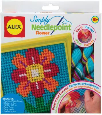 Набор для вышивания Alex Цветок от 5 лет 395FN наборы для творчества alex набор для вышивания любовь