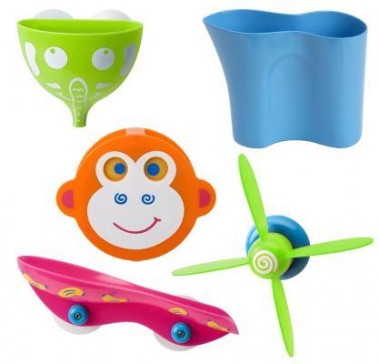 цена Набор игрушек для ванны ALEX Водопад в джунглях 818N