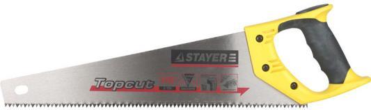 Ножовка Stayer Master по дереву закаленный зуб двухкомпонентная рукоятка 1506-50_z01 ножовка по дереву для стусла runex angle 300мм ударный зуб 13 577405