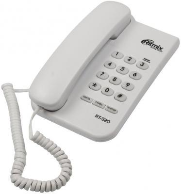 Телефон Ritmix RT-320 белый телефон supra stl 111 белый
