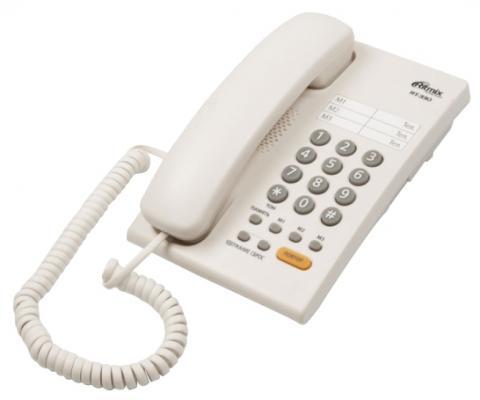Телефон Ritmix RT-330 белый ritmix avr 330
