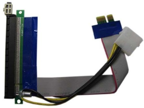 Переходник PCI-E X1-X16 питание Espada EPCIEX1-16pw 39930 аксессуар адаптер espada m2 to pci e x16 6pin usb riser card m2pciekit02