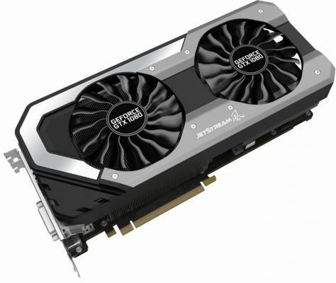 Видеокарта 8192Mb Palit GeForce GTX1080 Super JetStream PCI-E 256bit GDDR5X DVI HDMI DP PA-GTX1080 Super Jetstream 8G Retail