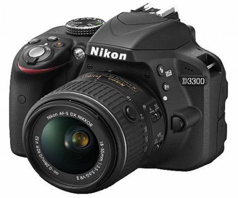 Зеркальная фотокамера Nikon D3300 Kit 18-55mm AF-P nonVR24.7Mp черный VBA390K010