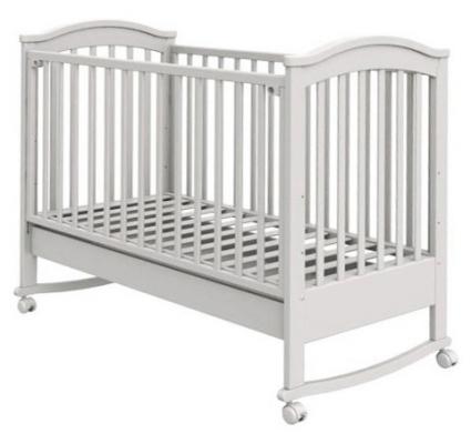 Кроватка-качалка Fiorellino Penelope (white) детская кроватка fiorellino lola 160 80 white