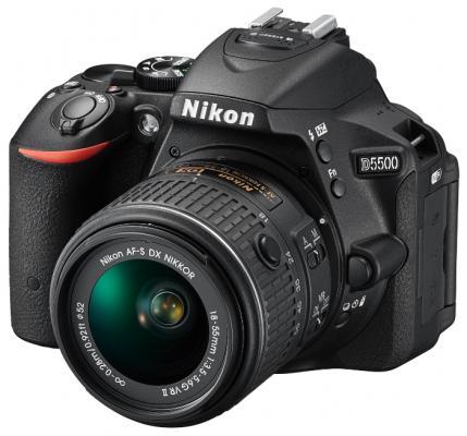 ���������� ���������� Nikon D5500 Kit DX 18-55 VR AF-P 24.1Mp ������ VBA440K006