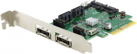 Контроллер PCI-E Espada FG-EST11B-1-CT01 контроллер espada pci e sata2 2port esata 2port ide raid jmb363 pcie005
