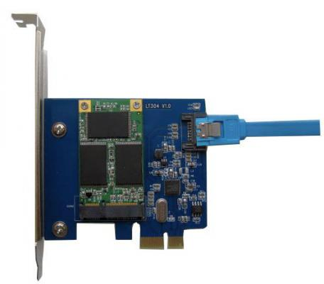 Контроллер PCI-E Espada PCIE020B контроллер pci e x1 to 1port sata3 6gb s 1 port msata чип asmedia asm1061 pcie020b espada