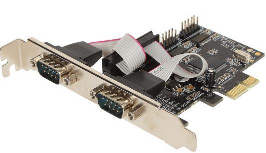 Контроллер PCI-E Orient XWT-PE4SV2LP 30142 pci e контроллер 2s1p 2 serial 1lpt orient xwt pe2s1pv2