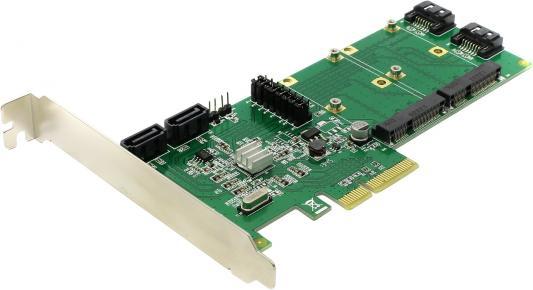 Контроллер PCI-E Espada FG-EST14A-1-BU01 контроллер espada pci e sata2 2port esata 2port ide raid jmb363 pcie005