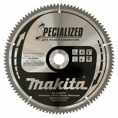 Пильный диск Makita Standard 305х30 100 зуб B-29343 диск пильный makita 305х30 16мм 100зубьев standard b 29309