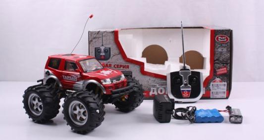 Внедорожник на радиоуправлении Play Smart Джип - Тарзан пластик от 3 лет красный Р40146