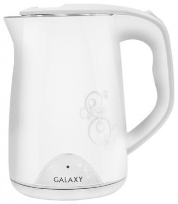 лучшая цена Чайник GALAXY GL0301 2000 Вт белый рисунок 1.5 л пластик