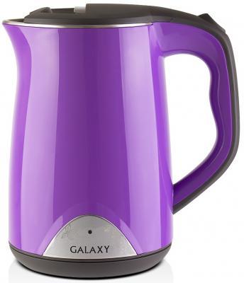 Чайник GALAXY GL0301 2000 Вт фиолетовый 1.5 л пластик чайник galaxy gl0301 2000 вт 1 5 л пластик белый рисунок