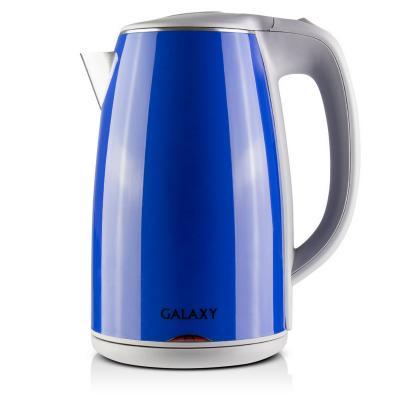 Чайник GALAXY GL0307 2000 Вт синий 1.7 л металл/пластик чайник galaxy gl0307 зеленый