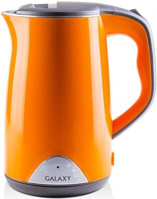 Чайник GALAXY GL0313 2000 Вт оранжевый 1.7 л нержавеющая сталь чайник galaxy gl0316 2000 вт 1 8 л нержавеющая сталь серебристый