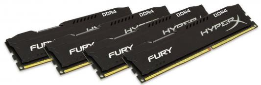 Оперативная память 32Gb (4x8Gb ) PC4-17000 2133MHz DDR4 DIMM CL14 Kingston HX421C14FB2K4/32 память ddr4 kingston kvr21r15s8k4 16 4х4gb dimm ecc reg pc4 17000 cl15 2133mhz