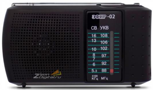 Радиоприемник Сигнал Эфир-02 черный радиоприемник сигнал эфир 05