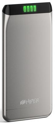 Портативное зарядное устройство HIPER SLS6300 6300мАч серебристый