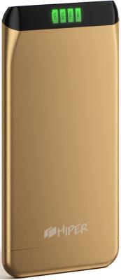 Портативное зарядное устройство HIPER SLS6300 6300мАч золотистый