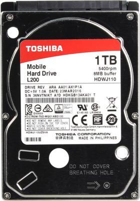 "Жесткий диск для ноутбука 2.5"" 1Tb 5400rpm 8Mb cache Toshiba SATAIII HDWJ110EZSTA"