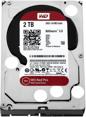 Жесткий диск 3.5 2 Tb 7200rpm 64Mb cache Western Digital Red Pro SATAIII WD2002FFSX 1000gb western digital wd1003fzex 64mb 7200rpm sata3 caviar black