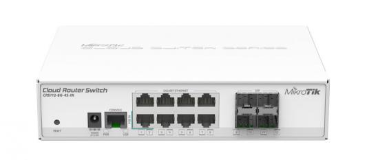 Коммутатор MikroTik CRS112-8G-4S-IN управляемый 8 портов 10/100/1000Mbps
