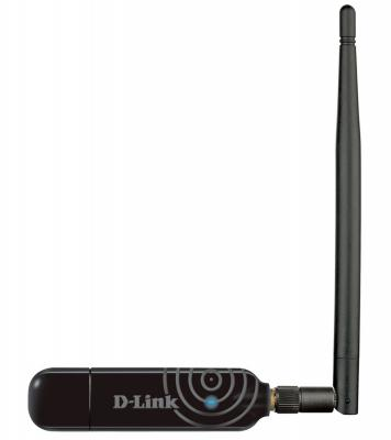 Беспроводной USB адаптер D-LINK DWA-137/A1B 802.11n 300Mbps 2.4ГГц 18dBm
