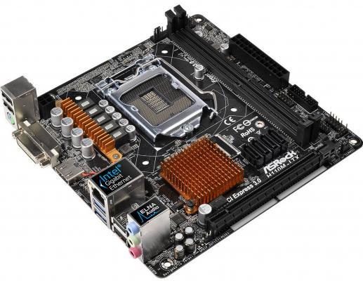 Мат. плата для ПК ASRock H110M-ITX Socket 1151 H110 2xDDR4 1xPCI-E 16x 4xSATAIII mini-ITX Retail