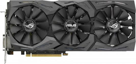 Видеокарта 8192Mb ASUS GeForce PCI-E STRIX-GTX1080-8G-GAMING 256bit GDDR5X 1700 DVIx1/HDMIx1/DPx3/HDCP Ret видеокарта asus nvidia geforce gt 710 gt710 sl 2gd5 2гб gddr5 low profile ret