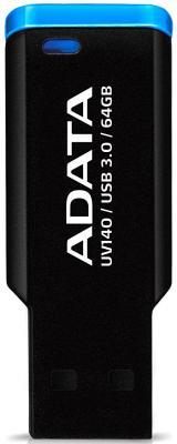 Флешка USB 64Gb A-Data UV140 USB3.0 AUV140-64G-RBE синий флешка usb 64gb a data uv140 usb3 0 auv140 64g rbe синий