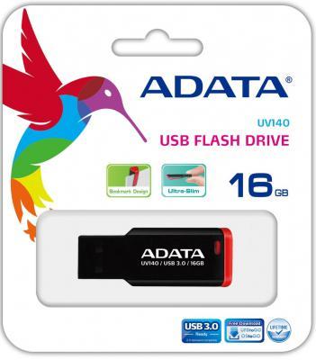 Флешка USB 16Gb A-Data UV140 AUV140-16G-RKD красный цена и фото