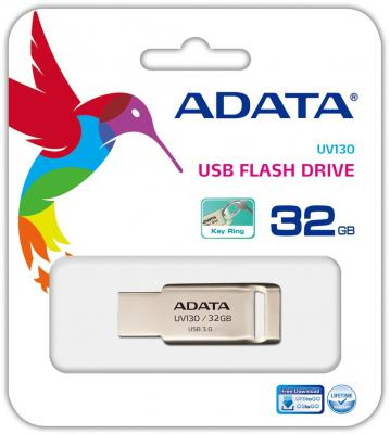 Флешка USB 32Gb A-Data UV130 AUV130-32G-RGD золотой aigo золотой 32gb