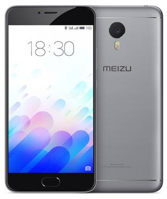 "Смартфон Meizu M3 Note серый черный 5.5"" 16 Гб LTE Wi-Fi GPS MZU-L681H-16-GB"