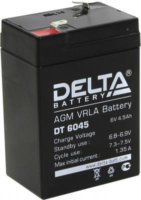 Батарея Delta DT 6045 4.5Ач 6B delta battery dt 1207 12v 7ah