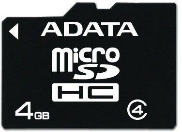 Карта памяти Micro SDHC 4Gb Class 4 A-Data AUSDH4GCL4-R
