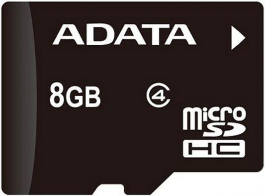 Карта памяти Micro SDHC 8GB Class 4 A-Data AUSDH8GCL4-R карта памяти sdhc 16gb class 10 a data asdh16guicl10 r