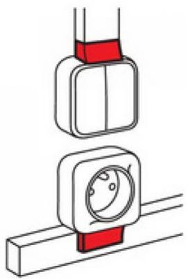 Адаптер Quteo Legrand Metra 24x14 638127 выключатель legrand quteo 10а 2 клавиши белый 782202
