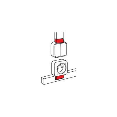 Адаптер Quteo Legrand Metra 20x12 638117 выключатель legrand quteo 10а 1 клавиша белый 782300