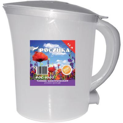 Чайник Росинка РОС-1002 белый 800 Вт белый 1.5 л пластик