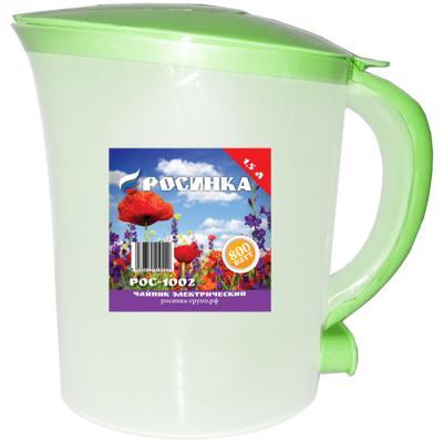 Чайник Росинка РОС-1002 фисташковый 800 Вт фисташковый 1.5 л пластик