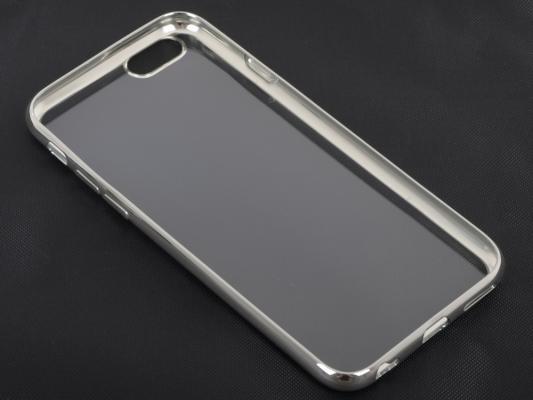 Накладка DF iCase-02 для iPhone 5 iPhone 5S iPhone SE серебристый