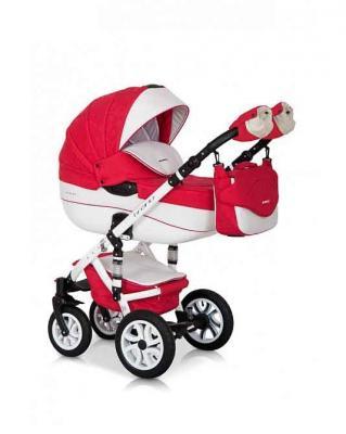 Коляска 3-в-1 Riko Bruno Ecco (20/красный-белый) коляска rudis solo 2 в 1 графит красный принт gl000401681 492579