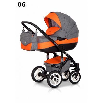 Коляска 3-в-1 Riko Bruno (06/серый-оранжевый)