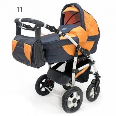 Коляска 3-в-1 Teddy BartPlast Serenade PCO-F (11/графит-оранжевый) коляска rudis solo 2 в 1 графит красный принт gl000401681 492579
