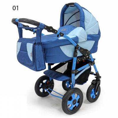 Коляска 3-в-1 Teddy BartPlast Serenade PCO-F (01/синий-голубой) коляска 3 в 1 teddy bartplast serenade pco f графит серый