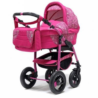 Коляска 2-в-1 Teddy BartPlast Platinum 2016 PKLO (MO04/розовый) прогулочная коляска teddy bartplast etude pklo 07 коричневый