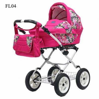Коляска для новорожденного Teddy BartPlast Angelina Lite PKL 2016 (FL04/розовый)